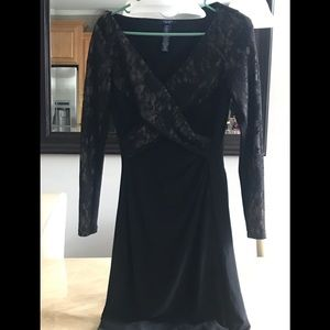 Ralph Lauren chaps black lace dress